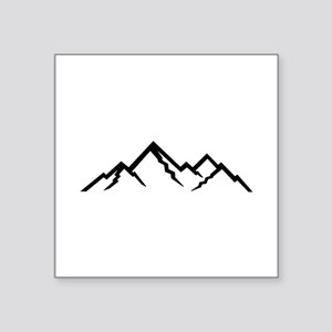 "Mountains Square Sticker 3"" x 3"""