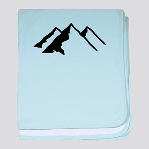 Mountains baby blanket