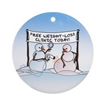 Melting the Pounds Ornament (Round)