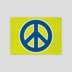 pop-art peace 5'x7'Area Rug