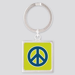 pop-art peace Square Keychain
