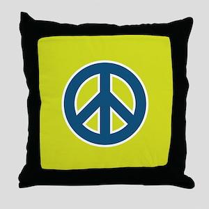 pop-art peace Throw Pillow