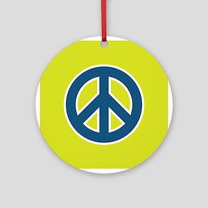 pop-art peace Ornament (Round)