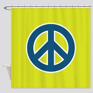 pop-art peace Shower Curtain