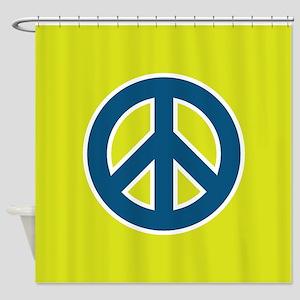 pop-art peace Shower Curtain