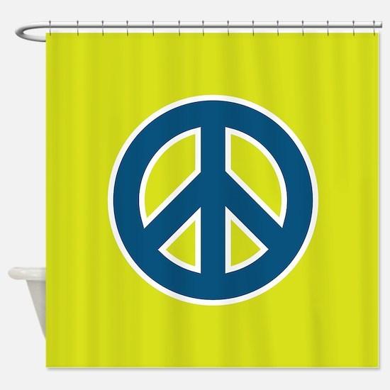 pop art peace shower curtain - Bathroom Accessories Lime Green
