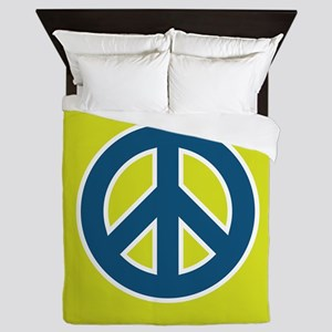 pop-art peace Queen Duvet