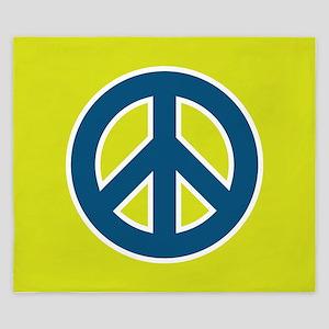 pop-art peace King Duvet