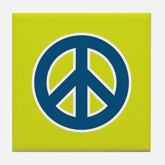 pop-art peace Tile Coaster