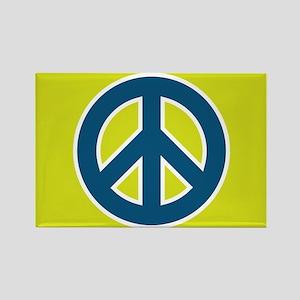 pop-art peace Rectangle Magnet