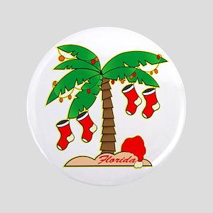 "Florida Christmas Tree 3.5"" Button"