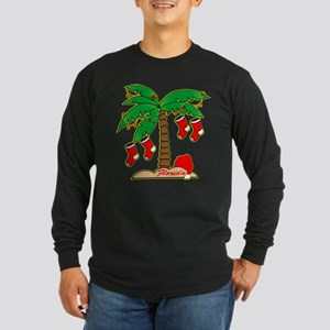 Florida Christmas Tree Long Sleeve Dark T-Shirt