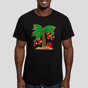 Florida Christmas Tree Men's Fitted T-Shirt (dark)