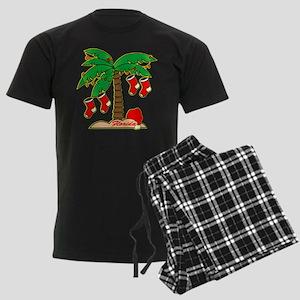 Florida Christmas Tree Men's Dark Pajamas