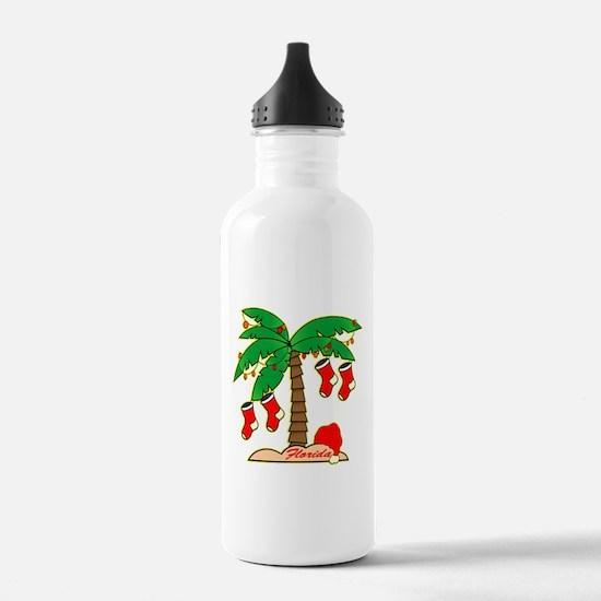 Florida Christmas Tree Water Bottle