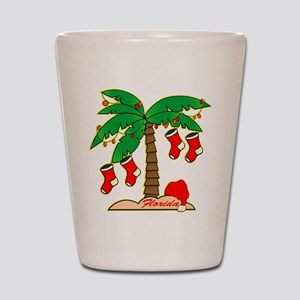 Florida Christmas Tree Shot Glass