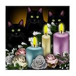 BLACK CATS CHRISTMAS Tile Coaster