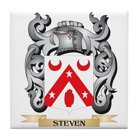 Steven- Coat of Arms - Family Crest Tile Coaster