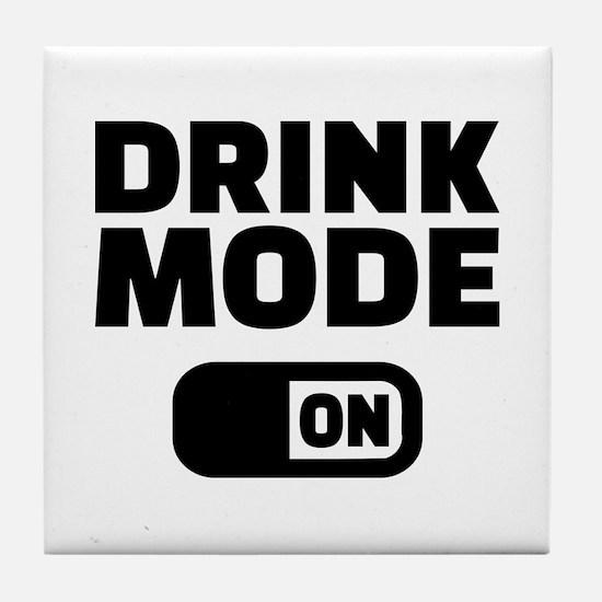 Drink mode on Tile Coaster