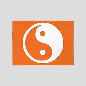 Yin Yang Orange 5'x7'Area Rug