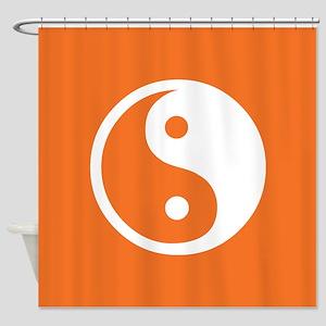 Yin Yang Orange Shower Curtain