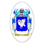 Hershenson Sticker (Oval 10 pk)