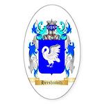 Hershcovitz Sticker (Oval 50 pk)