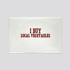 I buy local vegetables Rectangle Magnet