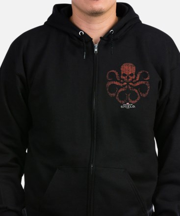 HYDRA Logo Alien Writing Zip Hoodie (dark)