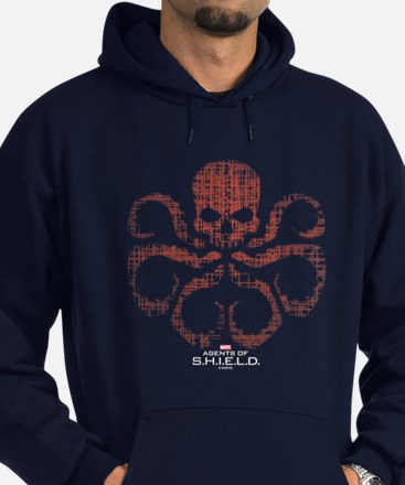HYDRA Logo Alien Writing Hoodie (dark)