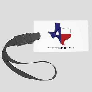 Texas Bigger Luggage Tag