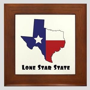 Lone Star Texas Framed Tile