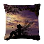 The Dreamer Fairy Duvet Queen Woven Throw Pillow