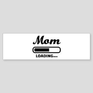 Mom loading pregnant Sticker (Bumper)
