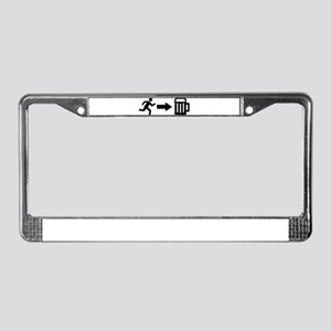 Run for beer License Plate Frame