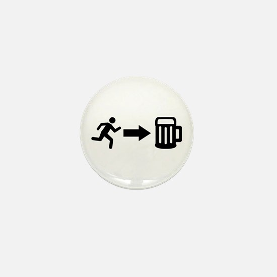 Run for beer Mini Button