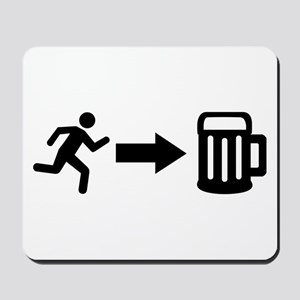 Run for beer Mousepad