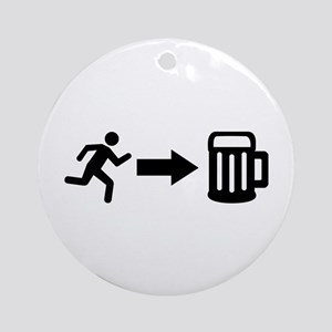 Run for beer Ornament (Round)
