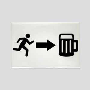 Run for beer Rectangle Magnet