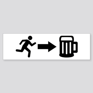 Run for beer Sticker (Bumper)