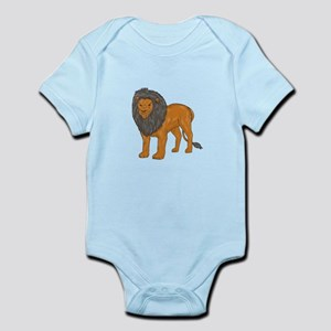 Lion Hunting Surveying Prey Drawing Body Suit
