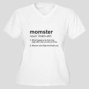 Momster Women's Plus Size V-Neck T-Shirt