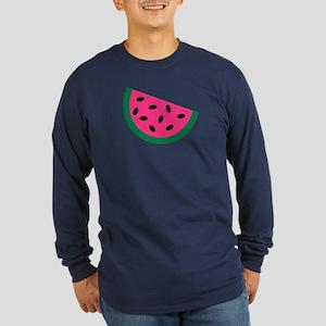 Watermelon Long Sleeve Dark T-Shirt