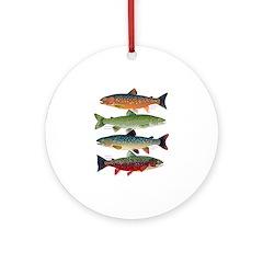 4 Char fish Ornament (Round)