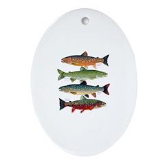 4 Char fish Ornament (Oval)