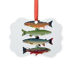 4 Char fish Ornament
