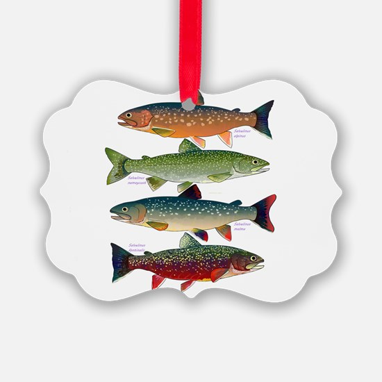 4 Char fish Ornament