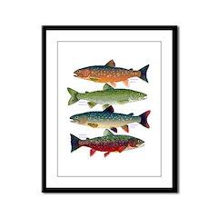 4 Char fish Framed Panel Print
