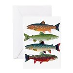 4 Char fish Greeting Cards