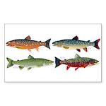 4 Char fish Sticker